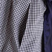 Dirndl Taduna Donkerblauw Luxe (55cm) (detail stof)