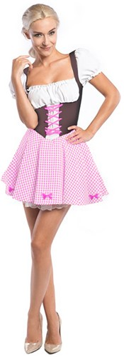 Dirndl Donkerbruin/Pink voor dames