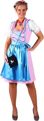 Dirndl Jurk Kira Pink/Turquoise