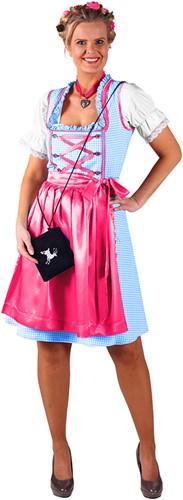Dirndl Jurk Kira Turquoise/Pink
