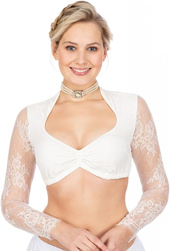 Elena Dirndl Blouse Wit Luxe