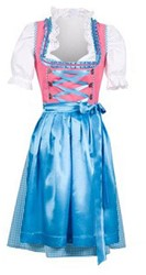 Turquoise/Pink Dirndl Laura