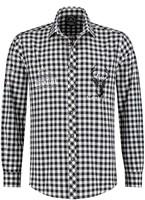 Luxe Trachtenhemd Zwart/Wit Luxe (100% katoen)