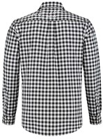 Luxe Trachtenhemd Zwart/Wit Luxe (100% katoen)-2