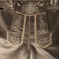 Lederhose Lang Antiek Zwart  -3