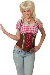 Roze/Bruine Dames Tiroler top