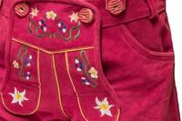 Lederhose Dames Pink Kort-3