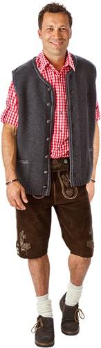 Trachtenvest Grijs Luxe (100% wol)