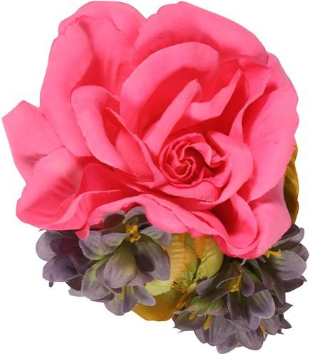 Roze Tiroler Bloemenclip (Luxe)