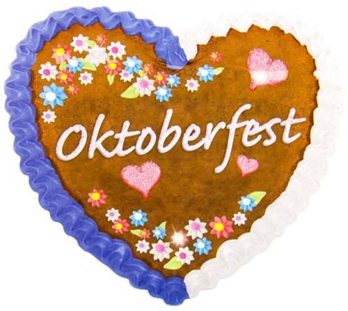 Oktoberfest Button Hartje met LED