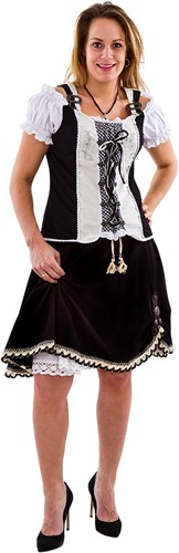 Trachtenmieder met Rok Zwart Tiroler