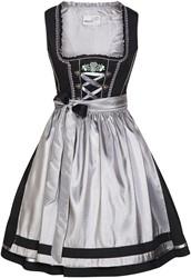 Luxe Dirndl Fabia Zwart-Zilver (55cm)