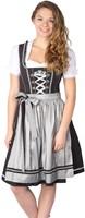 Luxe Dirndl Fabia Zwart-Zilver (55cm)-3