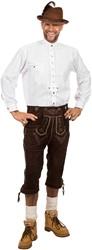 Trachtenhemd Wit Edelweiss (100% katoen)