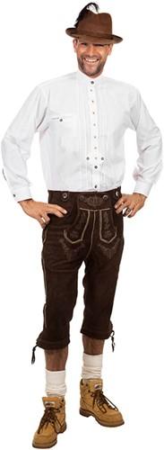 Wit Trachtenhemd Edelweiss (100% katoen)
