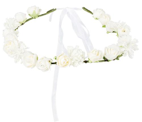 Hoofdbandje met Witte Bloemen