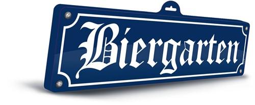 Biergarten Wanddeco