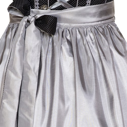 Dirndl Fabia Zwart-Zilver Luxe (55cm) (detail rok)