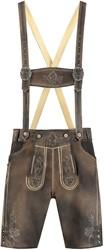 Korte Lederhose voor Heren Luxe Antiek Grijs (rundleer)