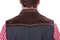 Tiroler Trachten Vest Luxe (Wol/Leder) -2