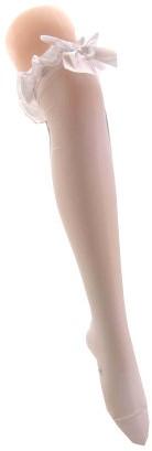 Witte Kousen Britney met Witte Strik