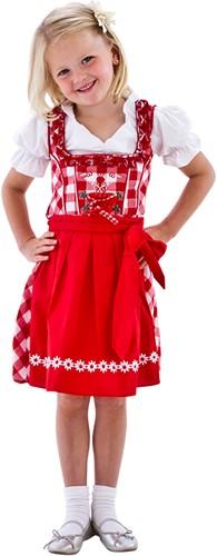 Luxe Rood/Witte Dirndl voor meisjes