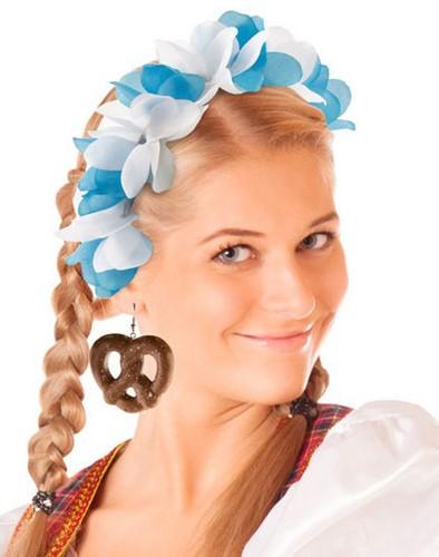 Blauw/Witte Oktoberfest Tiara