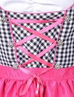 Pink/Zwarte Luxe Dames Dirndl-2