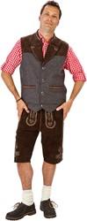 Tiroler Trachten Vest Luxe (Wol/Leder)