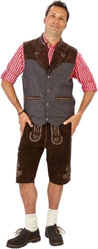 Trachten Vest Luxe  Tiroler (Wol/Leder)