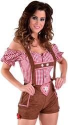 Sexy Lederhose / Tirolerbroek Bruin voor dames