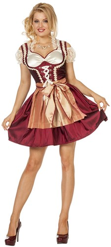 Dirndl Stephanie Bordeaux/Goud
