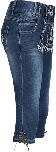 Blauwe Tiroler Dames Trachten Jeans (driekwart)-2