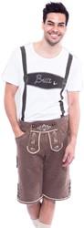 Lederhose Bruin voor Heren (Joggingstof)