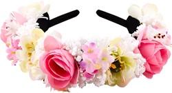 Tiroler Haarband Luxe Wit-Roze