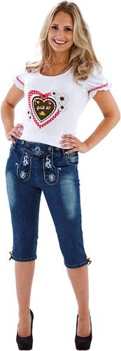 Tiroler Dames Trachten Jeans Kniebund
