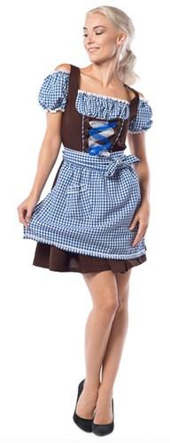 Dirndl Anne-Ruth voor dames (Blauw-Bruin)