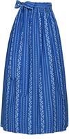 Blauwe Trachten Dirndlschort (100% Katoen)