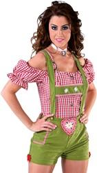 Sexy Lederhose / Tirolerbroek Groen voor dames