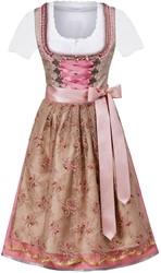 Luxe Dirndl Alison (65cm, roze) inclusief Schort