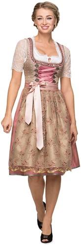Luxe Dirndl Alison (65cm, roze) inclusief Schort-2