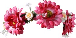Haarband Bloemen Margriet Pink