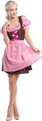 Dirndl Anne-Ruth voor dames (Pink-Bruin)