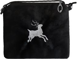 Tiroler Tasje Zwart (met Hert)