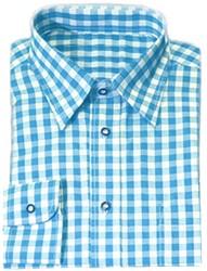 Luxe Turquoise Tiroler Overhemd (katoenen polyester)
