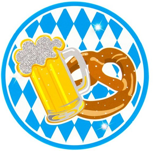 Oktoberfest Button Bavarian met LED
