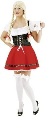 Sexy Dirndl Rood-Zwart