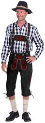 Lederhose Kniebund Zwart (rundleer)