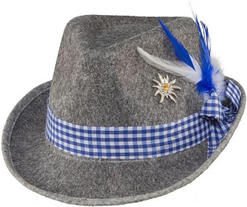 Grijs/Blauw Tiroler Hoed voor dames