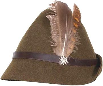 Tiroler Hoed Groen Seppl Luxe (wolvilt)